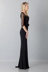 Drexcode - Black mermaid dress with lace sleeves - Blumarine - Rent - 4