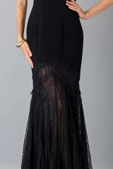 Drexcode - Black dress with transparent lace skirt - Theia - Rent - 6
