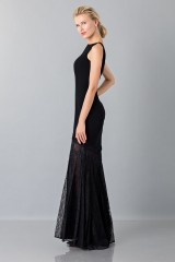 Drexcode - Black dress with transparent lace skirt - Theia - Rent - 4