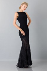 Drexcode - Black dress with transparent lace skirt - Theia - Rent - 5