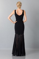 Drexcode - Black dress with transparent lace skirt - Theia - Rent - 2