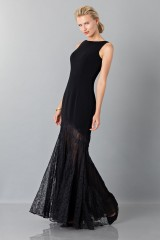 Drexcode - Black dress with transparent lace skirt - Theia - Rent - 3