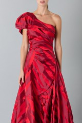 Drexcode - One-shoulder red dress with puff sleeve - Vivienne Westwood - Rent - 6