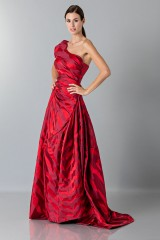 Drexcode - One-shoulder red dress with puff sleeve - Vivienne Westwood - Rent - 5