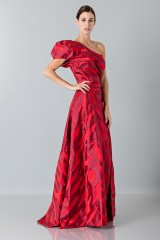 Drexcode - One-shoulder red dress with puff sleeve - Vivienne Westwood - Rent - 4