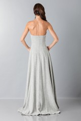 Drexcode - Gray woolen bustier with floral themed applique - Alberta Ferretti - Rent - 2