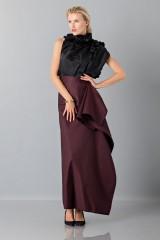 Drexcode - Bordeaux skirt with anterior drapery  - Albino - Rent - 4