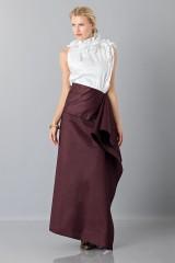 Drexcode - Bordeaux skirt with anterior drapery  - Albino - Rent - 1