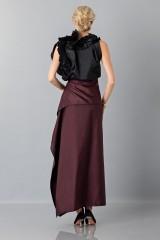 Drexcode - Bordeaux skirt with anterior drapery  - Albino - Rent - 3
