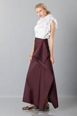 Drexcode - Bordeaux skirt with anterior drapery  - Albino - Rent - 5