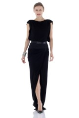 Drexcode - Long dress with leather inserts - Vionnet - Rent - 1