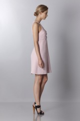 Drexcode - Crepe dress with metal belt - Giambattista Valli - Sale - 3