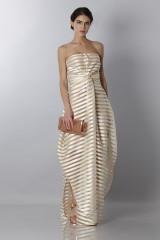 Drexcode - Golden stripes long dress - Vionnet - Rent - 4