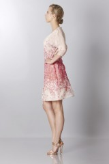 Drexcode - Silk organza dress with floral printing - Blumarine - Sale - 4