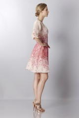 Drexcode - Silk organza dress with floral printing - Blumarine - Sale - 5