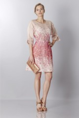 Drexcode - Silk organza dress with floral printing - Blumarine - Sale - 3