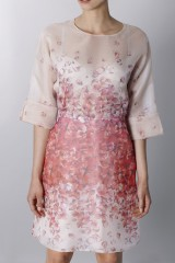 Drexcode - Silk organza dress with floral printing - Blumarine - Sale - 7