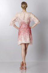 Drexcode - Silk organza dress with floral printing - Blumarine - Sale - 6