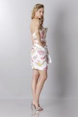 Drexcode - Silk printed bustier dress - Moschino - Sale - 4