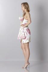 Drexcode - Silk printed bustier dress - Moschino - Sale - 3