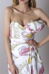 Drexcode - Silk printed bustier dress - Moschino - Sale - 6
