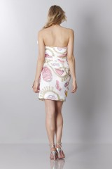 Drexcode - Silk printed bustier dress - Moschino - Sale - 5
