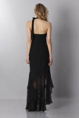 Drexcode - Black chiffon dress - Alberta Ferretti - Sale - 2