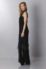 Drexcode - Black chiffon dress - Alberta Ferretti - Sale - 5