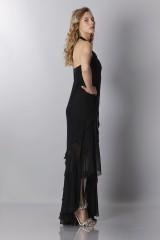 Drexcode - Black chiffon dress - Alberta Ferretti - Sale - 4
