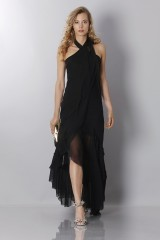 Drexcode - Black chiffon dress - Alberta Ferretti - Sale - 3