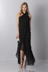 Drexcode - Black chiffon dress - Alberta Ferretti - Sale - 1