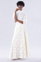 Drexcode - White suit with paisley skirt and sweater - Paule Ka - Rent - 1