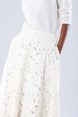 Drexcode - White suit with paisley skirt and sweater - Paule Ka - Sale - 4