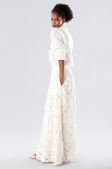 Drexcode - White suit with paisley skirt and sweater - Paule Ka - Sale - 2
