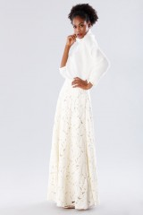 Drexcode - White suit with paisley skirt and sweater - Paule Ka - Sale - 5