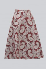 Drexcode - Burgundy skirt with silver brocade pattern - Perseverance - Sale - 2