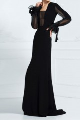 Drexcode - Silk dress with long sleeve and transparent neckline  - Ports 1961 - Rent - 4