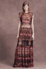 Drexcode - Silk and lace chiffon dress - Alberta Ferretti - Sale - 3