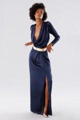 Drexcode - Blue dress with deep neckline - Rhea Costa - Rent - 6