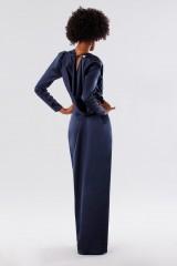 Drexcode - Blue dress with deep neckline - Rhea Costa - Rent - 3