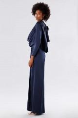 Drexcode - Blue dress with deep neckline - Rhea Costa - Rent - 4