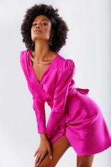 Drexcode - Short fuchsia dress - Rhea Costa - Rent - 3