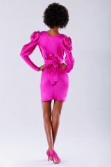 Drexcode - Short fuchsia dress  - Rhea Costa - Sale - 4