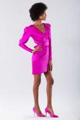 Drexcode - Short fuchsia dress - Rhea Costa - Rent - 5