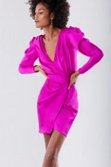 Drexcode - Short fuchsia dress  - Rhea Costa - Sale - 2