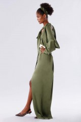 Drexcode - Olive dress with bat sleeves - Rhea Costa - Sale - 5