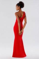 Drexcode - Red one-shoulder mermaid dress - Rhea Costa - Rent - 3