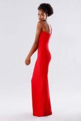 Drexcode - Red one-shoulder mermaid dress - Rhea Costa - Rent - 4