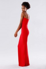 Drexcode - One-shoulder red mermaid dress - Rhea Costa - Sale - 4