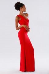Drexcode - Red one-shoulder mermaid dress - Rhea Costa - Rent - 5